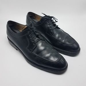 Salvatore Ferragamo Mens Black Leather Shoes Sz 10